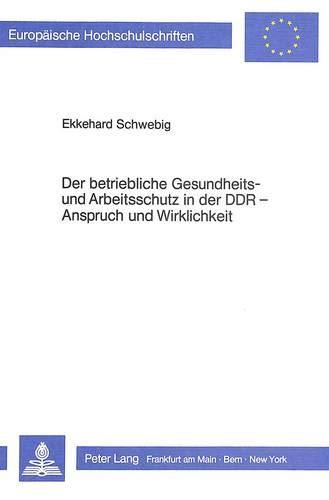 Der betriebliche Gesundheits- und Arbeitsschutz in der: Schwebig, Ekkehard