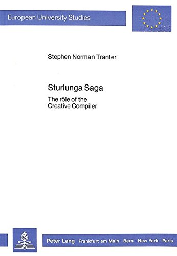 Sturlunga Saga 9783820495027: Stephen Norman Tranter