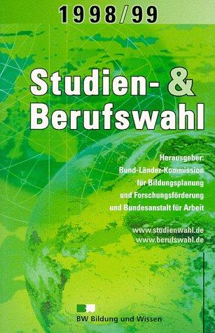 9783821473000: Studien- und Berufswahl 1998/99