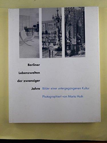 9783821806433: Berliner Lebenswelten der zwanziger Jahre. Bilder einer untergegangenen Kultur