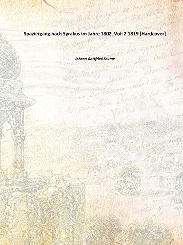 9783821844107: Spaziergang nach Syrakus im Jahre 1802