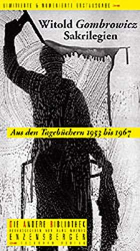 9783821845098: Sakrilegien. Aus den Tagebüchern 1957-1966. Die Andere Bibliothek