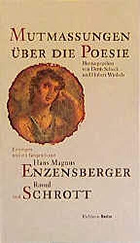 9783821851099: Mutmassungen über die Poesie. Inkl. 2 CDs: Lesungen und ein Gespräch