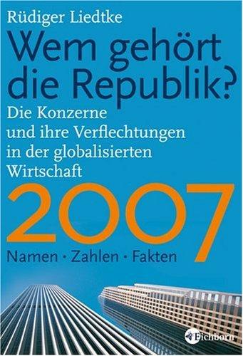 9783821856582: Wem gehört die Republik 2007?: