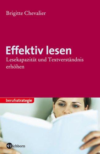 9783821859217: Effektiv Lesen: Lesekapazität Und Textverständnis Erhöhen