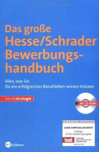 9783821859286: Das große Hesse/Schrader Bewerbungshandbuch: Alles, was Sie für ein erfolgreiches Berufsleben wissen müssen
