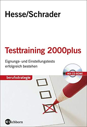 9783821859804: Testtraining 2000plus: Einstellungs- und Eignungstests erfolgreich bestehen