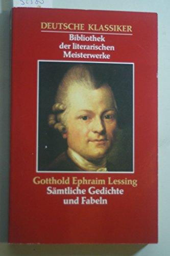 Lessing Sämtliche Gedichte Zvab