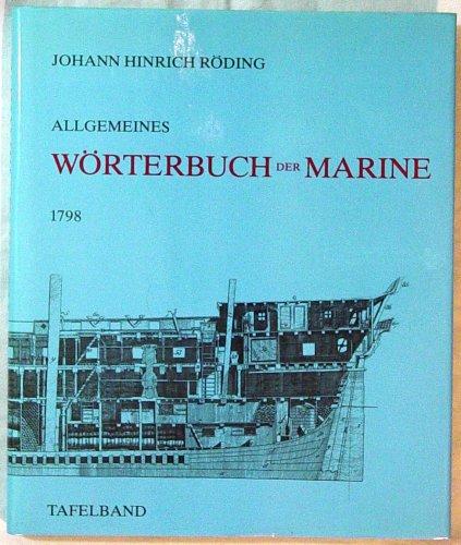 9783822500743: Allgemeines W�rterbuch der Marine. Tafelband. [Reprint].