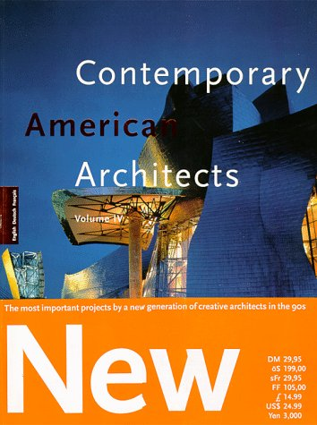 9783822874264: Contemporary American architects, Tome 4 :