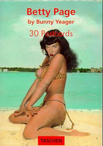 Betty Page Postcard Books: Yeager, Bunny