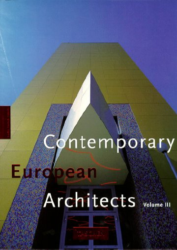 9783822892640: Contemporary European architects,vol III, trilingual