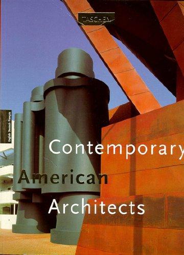 9783822894545: CONTEMPORARY AMERICAN ARCHITECTS. Volume 1, �dition trilingue english deutsch fran�ais