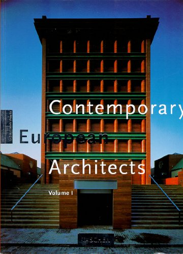 9783822897539: Contemporary European Architects: Vol. 1 (Big)
