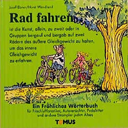 9783823101093: Radfahren. Ein fröhliches Wörterbuch.