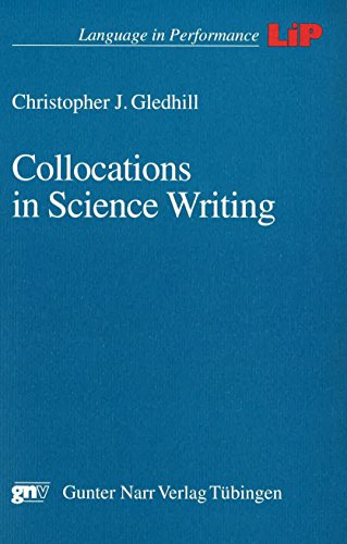 Collocations in science writing: Christopher J Gledhill