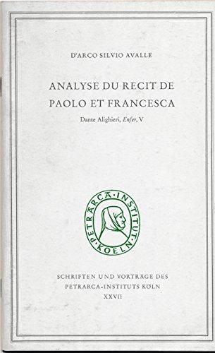 9783823354857: Analyse du récit de Paolo et Francesca: (Dante Alighieri, Enfer, V.)