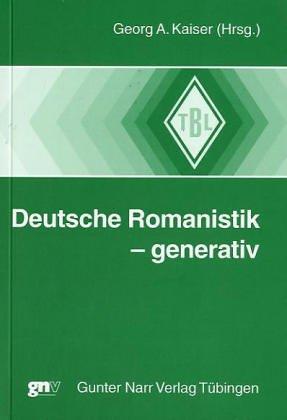Deutsche Romanistik - generativ: Georg Kaiser