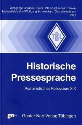 Historische Pressesprache: Wolfgang Dahmen