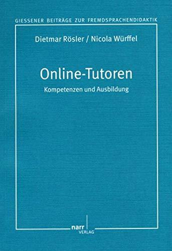 9783823362999: Ausbildung von Online-Tutoren für den Fremdsprachenbereich