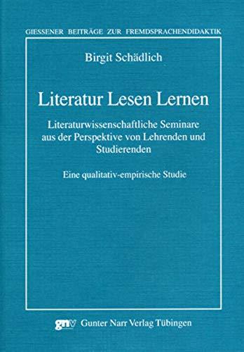Literatur Lesen Lernen: Birgit Sch�dlich