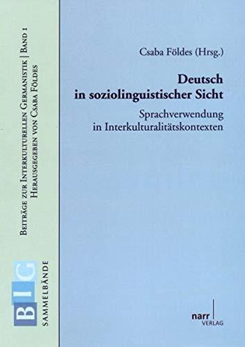 Deutsch in soziolinguistischer Sicht: Narr Dr. Gunter