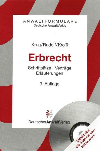 9783824007943: AF Erbrecht: Schriftsätze - Verträge - Erläuterungen