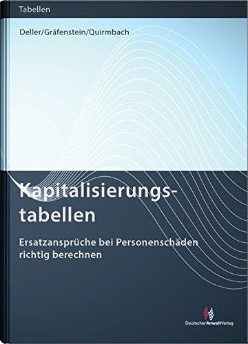 9783824014019: Kapitalisierungstabellen: Ersatzansprüche bei Personenschäden richtig berechnen