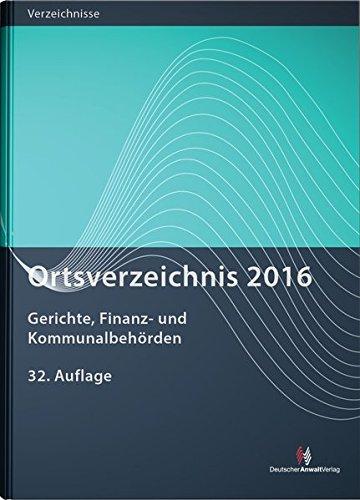 Ortsverzeichnis 2016