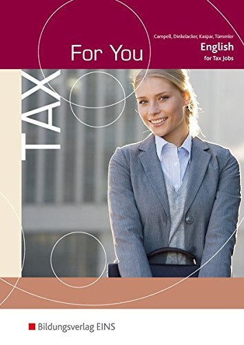 9783824213252: Tax For You: Englisch for Tax Jobs