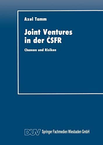 Joint Ventures in der CSFR: Axel Tamm