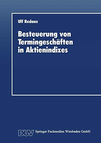 Besteuerung von Termingeschäften in Aktienindizes: Ulf Redanz