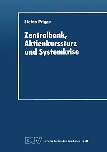 Zentralbank, Aktienkurssturz Und Systemkrise