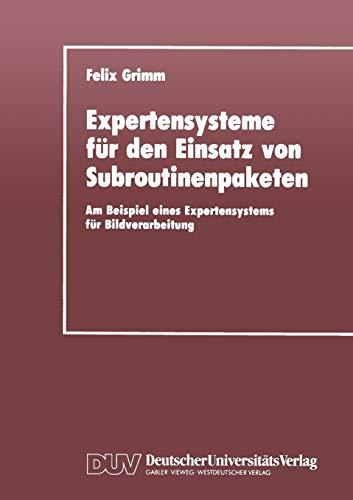 Expertensysteme Fur Den Einsatz Von Subroutinenpaketen: Am Beispiel Eines Expertensystems Fur ...