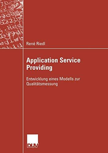 Application Service Providing: René Riedl
