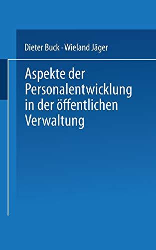 9783824442492: Aspekte der Personalentwicklung in der öffentlichen Verwaltung