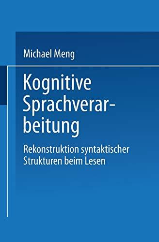 Kognitive Sprachverarbeitung: Michael Meng
