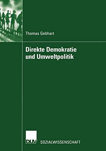 9783824445059: Direkte Demokratie und Umweltpolitik