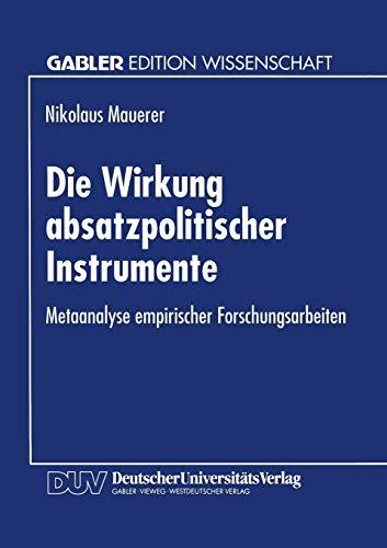 Die Wirkung absatzpolitischer Instrumente: Nikolaus Mauerer