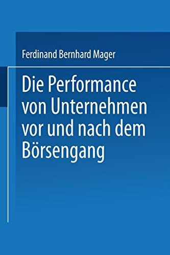 9783824474103: Die Performance von Unternehmen vor und nach dem Börsengang