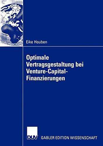 9783824479764: Optimale Vertragsgestaltung bei Venture-Capital-Finanzierungen