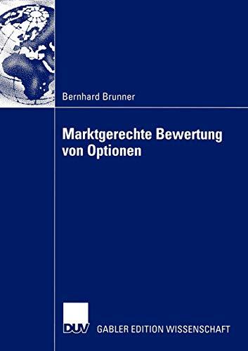 9783824480708: Marktgerechte Bewertung von Optionen