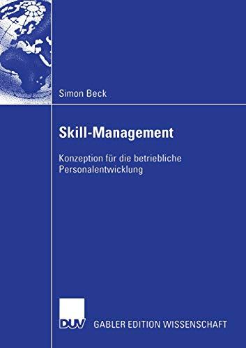 9783824482122: Skill-Management: Konzeption Fur Die Betriebliche Personalentwicklung
