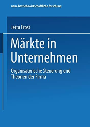 Märkte in Unternehmen: Jetta Frost