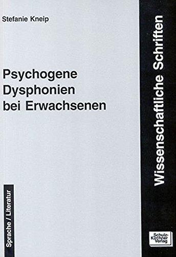 9783824803675: Psychogene Dysphonien bei Erwachsenen