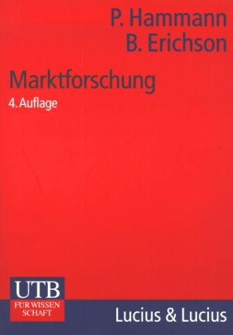 Marktforschung: Peter Hammann, Bernd Erichson