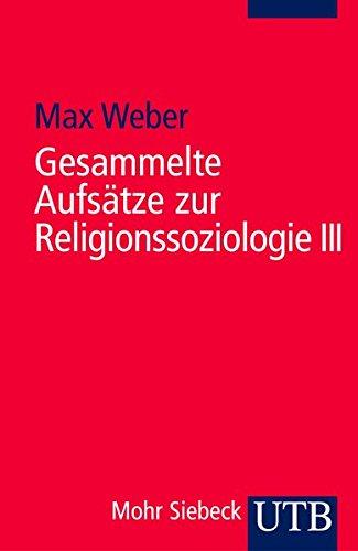 9783825214906: Gesammelte Aufsätze zur Religionssoziologie III.
