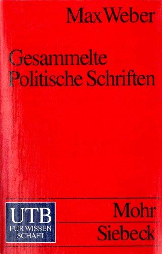 9783825214913: Gesammelte Politische Schriften.