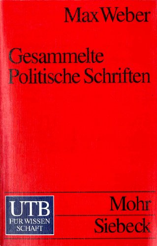 9783825214913: Gesammelte Politische Schriften
