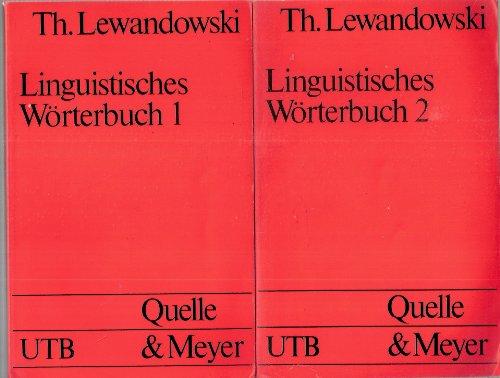9783825215187: Linguistisches Wörterbuch 1/3. (3 Bände)